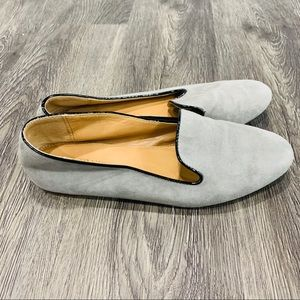 J. Crew Factory | Grey Addie suede leather loafers